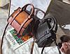 Элегантная женская сумка делового стиля под замш, фото 3