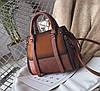 Элегантная женская сумка делового стиля под замш, фото 6