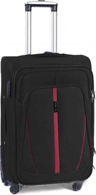 Чемодан сумка Suitcase (средний) 4 колеса черный