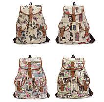 Милые вместительные женские тканевые рюкзаки , фото 3