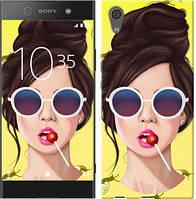 """Чехол на Sony Xperia XA1 Девушка с чупа-чупсом """"3979c-964-328"""""""