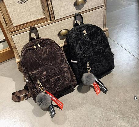 Милые бархатные рюкзаки в узор, фото 2