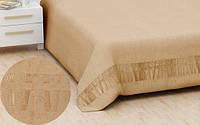 Бамбуковая махровая простынь 160х220 Hanibaba exsklusive бежевый