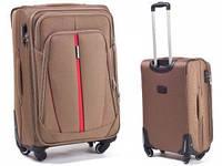 Чемодан сумка Suitcase (средний) 4 колеса песочный, фото 1
