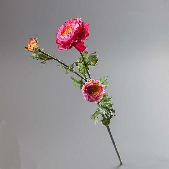 Цветок искусственный ранункулюс красный.