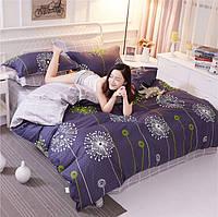 Постельное белье Одуванчики 100% хлопок, комплект Евро +, кровать 2.0м