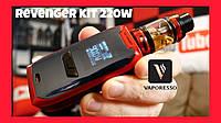 Стартовый набор Vaporesso Revenger Kit 220W Box Mod. Оригинал 100%. Цвет orange., фото 1