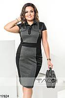 Платье с контрастной вставкой, фото 1