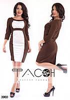 Платье с контрастной вставкой 3900