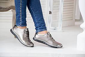 Серебристые (никель) кожаные кроссовки женские размеры все и цвета и 36-41