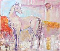 Конь, лошадь. Картина холст акрил