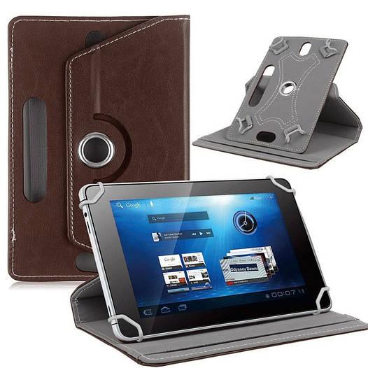 Сумка книжка универсальная для планшетов поворотная 10 дюймов Brown