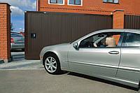 Сдвижные ворота с полотном из профлиста в алюминиевой раме DoorHan, фото 1