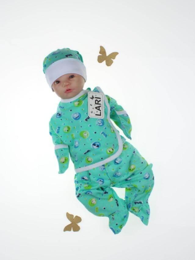 """Комплект для новорожденных """"Антошка"""", ментоловый с принтом"""