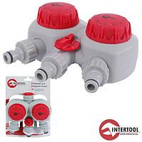 Таймер для подачи воды с 2-х канальным распределением INTERTOOL GE-2012