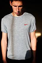 Мужская футболка Nike KD-2207.Серая, фото 2