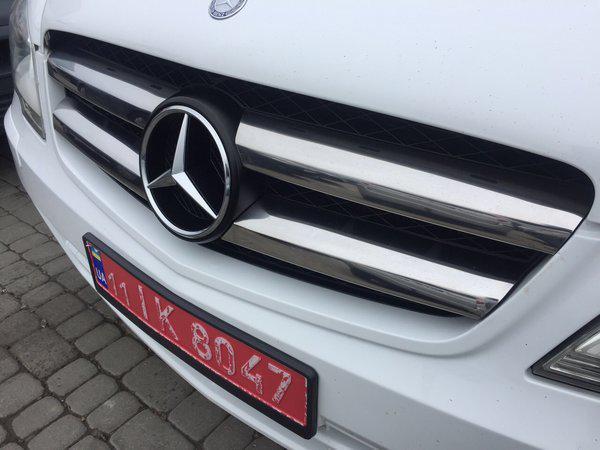 Накладка на решетку (нерж) - Mercedes Vito W639 (2010-2015)