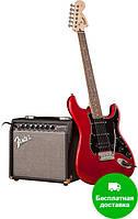 SQUIER by FENDER STRAT PACK HSS CANDY APPLE RED Гитарный набор