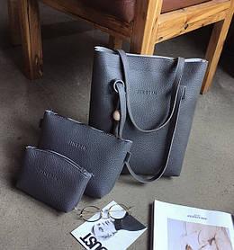 """Набір 3в1 """"JingPin"""", сумка-мішок, клатч і косметичка"""