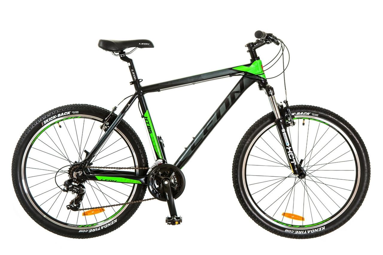 """Горный велосипед  26"""" LEON HT 85 2017 (черно-зеленый (м))"""