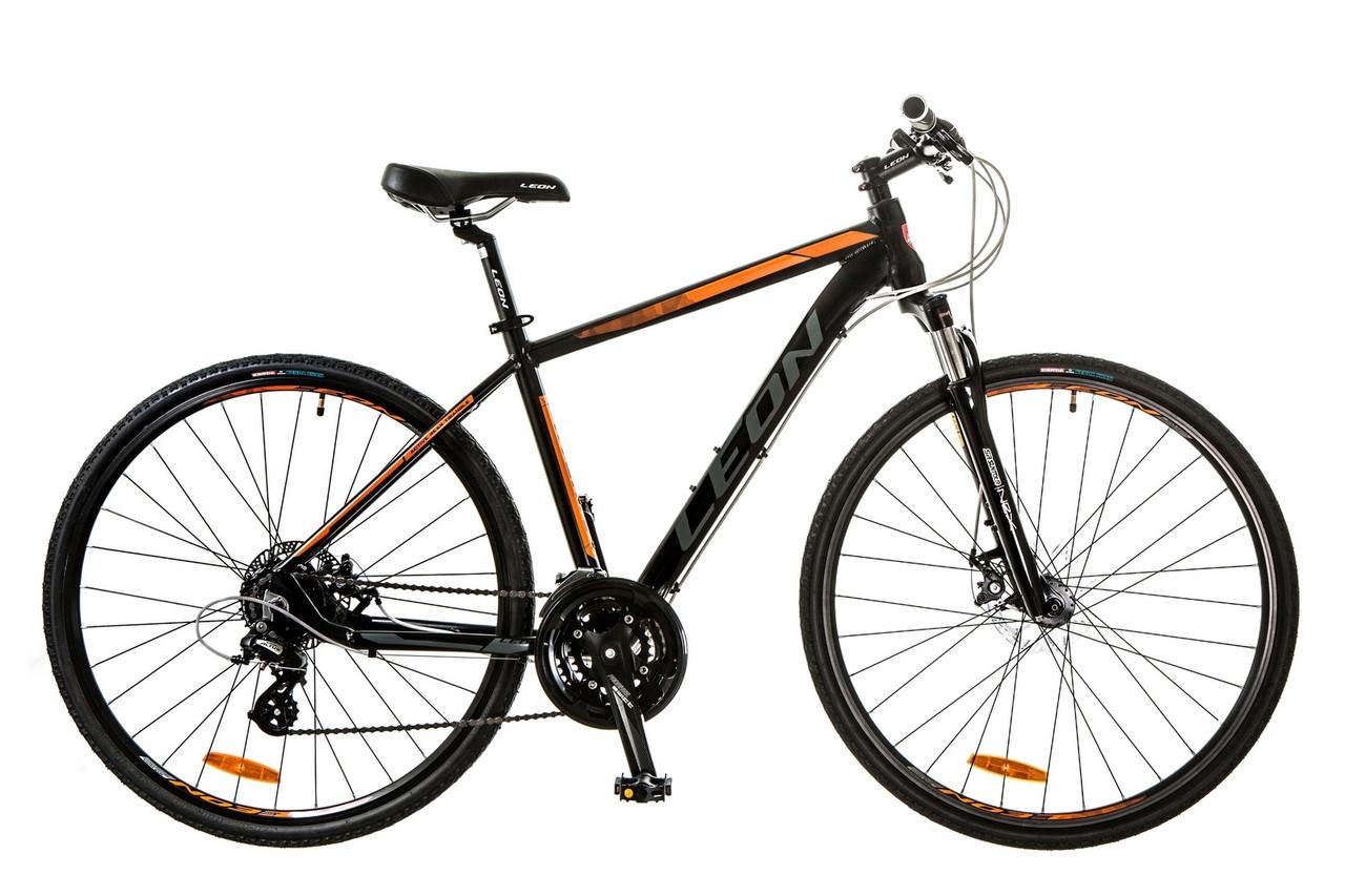 """Горный велосипед 28"""" LEON HD 80 2017 (черно-оранжевый (м))"""