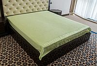 Бамбуковая махровая простынь 200х220 Hanibaba exsklusive зеленая
