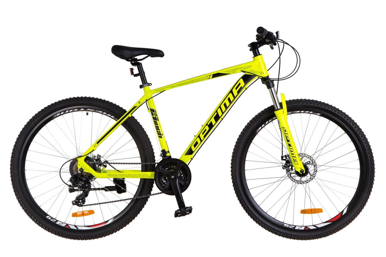 """Горный велосипед 29"""" Optimabikes F-1 DD 2018 (желтый неон (м))"""
