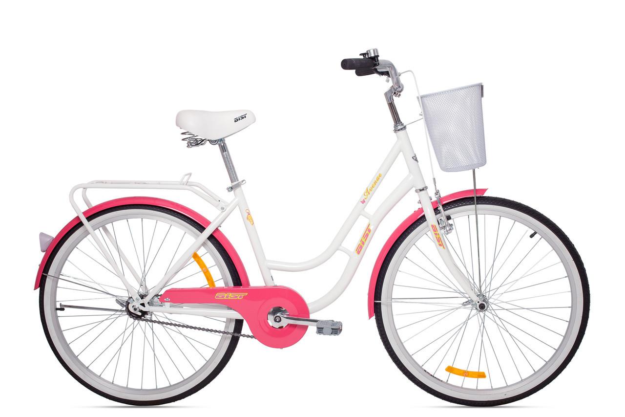 Велосипед дорожный АИСТ AVENUE (женский) бело-розовый