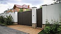 Откатные ворота с полотном из сэндвич-панелей DoorHan, фото 1