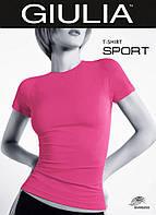 Бесшовная спортивная футболка малина 42-52