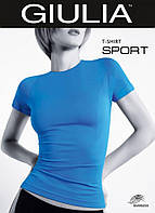 Бесшовная спортивная футболка синий 42-52