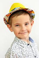 Яркая  желтая детская шляпа