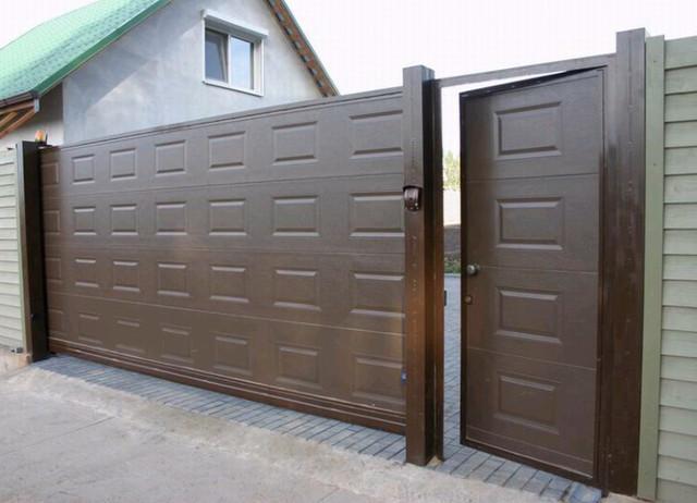 Откатные ворота с полотном из сэндвич-панелей DoorHan | I-Vorota