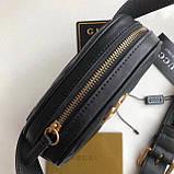 Сумка, клатч Гуччі Marmont натуральна шкіра колір чорний, фото 5