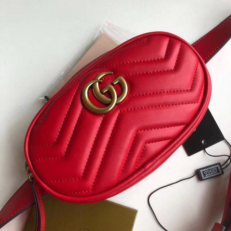 0d55d4b58be0 Сумка, клатч Гуччи Marmont натуральная кожа цвет красный: продажа ...