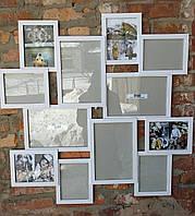 Деревянная эко мультирамка, коллаж #212 макси, белый, венге, орех, чёрный., фото 1