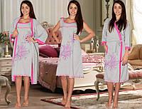 Домашний комплект халат +сорочка большие размеры