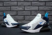 Мужские кроссовки Nike Air Max 270 White/Blue, фото 2