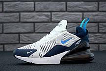 Мужские кроссовки Nike Air Max 270 White/Blue, фото 3