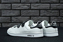 Женские кроссовки Adidas Stan Smith CF Velcro White Black, Адидас Стен Смит, фото 2