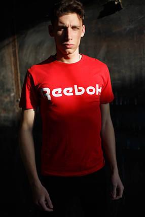 Мужская футболка Reebok KD-0805.Бордовая , фото 2