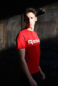 Мужская футболка Reebok KD-0805.Бордовая
