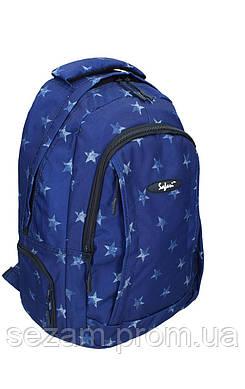 Ранець-рюкзак, 2 відд., 43*30*18см,600D PL, син.,97016, SAF