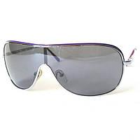 Солнцезащитные очки Mlook, маска, стальная с сиреневым, унисекс