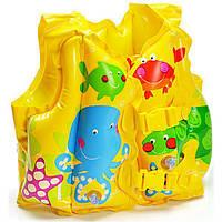 Надувной жилет детский Рыбки Intex 59661 (41х31см)