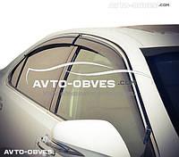Дефлекторы на окна (ветровики) Skoda Superb II 2014-... Sedan (с хром молдингом)