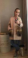 Кашемировое пальто на девочку с мехом  кл303, фото 1
