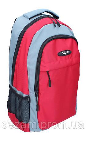 Ранець-рюкзак, 2 відд., 46*30*18см,600D PL, черв.-сір.,9674, SAF