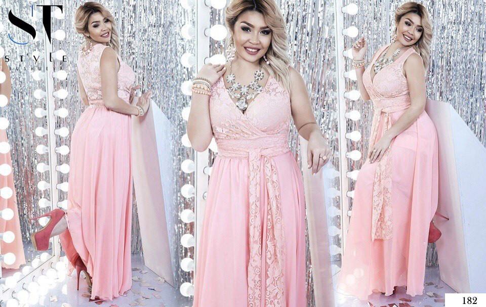4bdccc2d3e9 Платье длинное вечернее декольте глубокое гипюр+сетка+атлас+шифон 48 ...