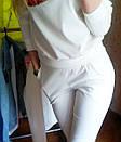 Прогулочный женский спортивный костюм с губами Kiss ткань трикотаж L-ка молочный белый, фото 2